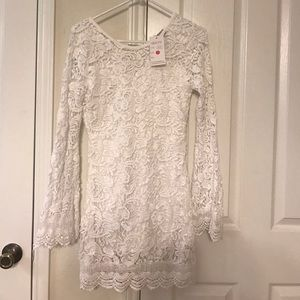 New With Tags Lovecat White Lace Dress in Small